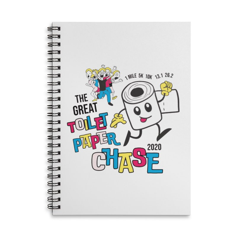 The Great Toilet Paper Chase of 2020 Accessories Lined Spiral Notebook by Moon Joggers's Artist Shop