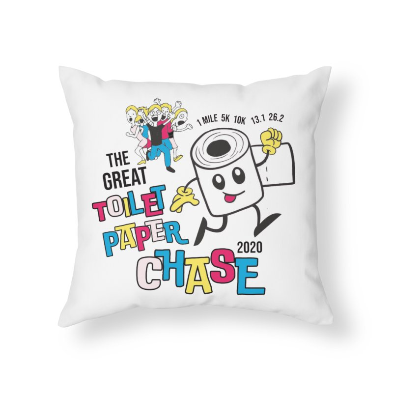 The Great Toilet Paper Chase of 2020 Home Throw Pillow by Moon Joggers's Artist Shop