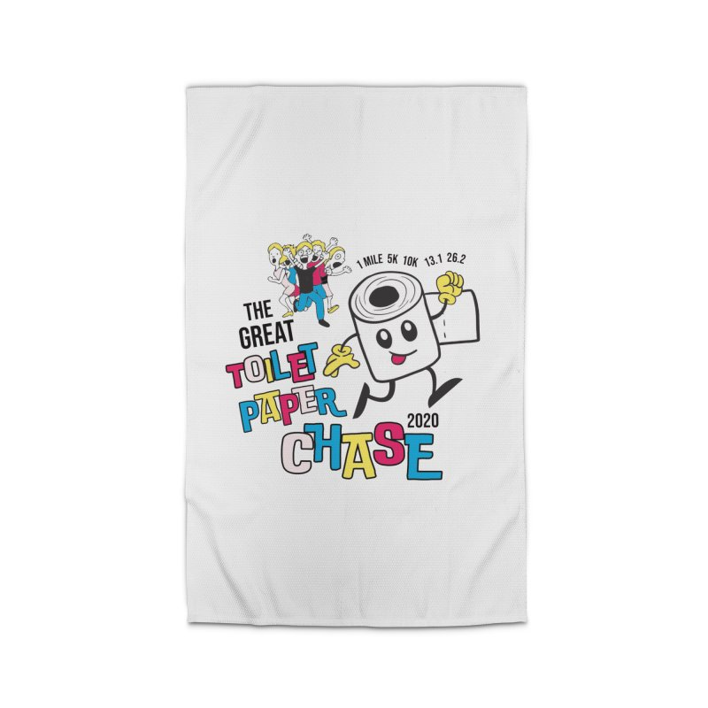 The Great Toilet Paper Chase of 2020 Home Rug by Moon Joggers's Artist Shop