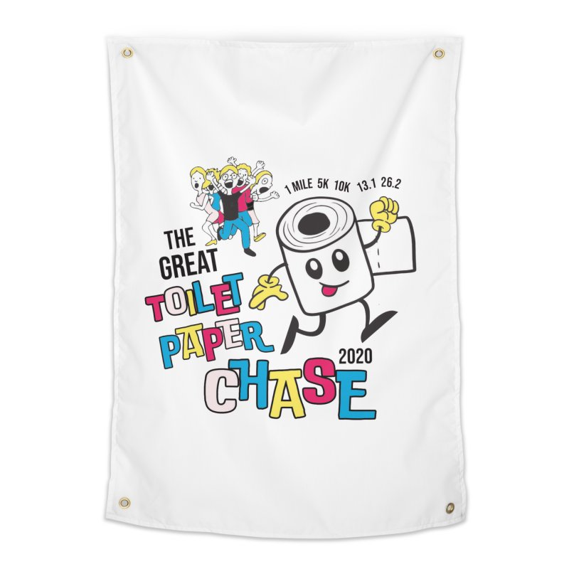 The Great Toilet Paper Chase of 2020 Home Tapestry by Moon Joggers's Artist Shop