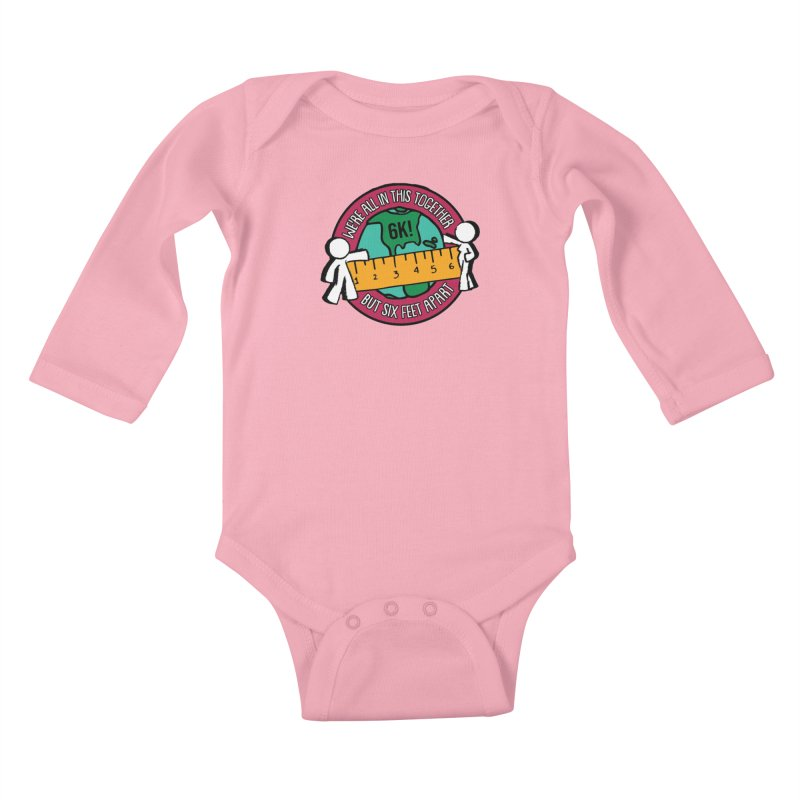 Social Distancing 6K - We Are All In This Together...But Six Feet Apart Kids Baby Longsleeve Bodysuit by Moon Joggers's Artist Shop