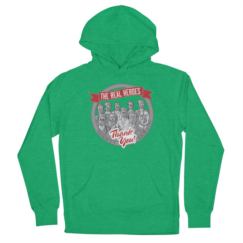 The Real Heroes Women's French Terry Pullover Hoody by Moon Joggers's Artist Shop