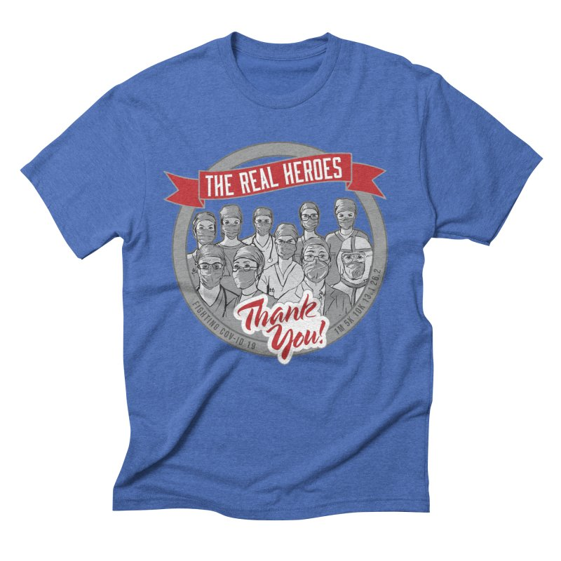 The Real Heroes Men's Triblend T-Shirt by Moon Joggers's Artist Shop