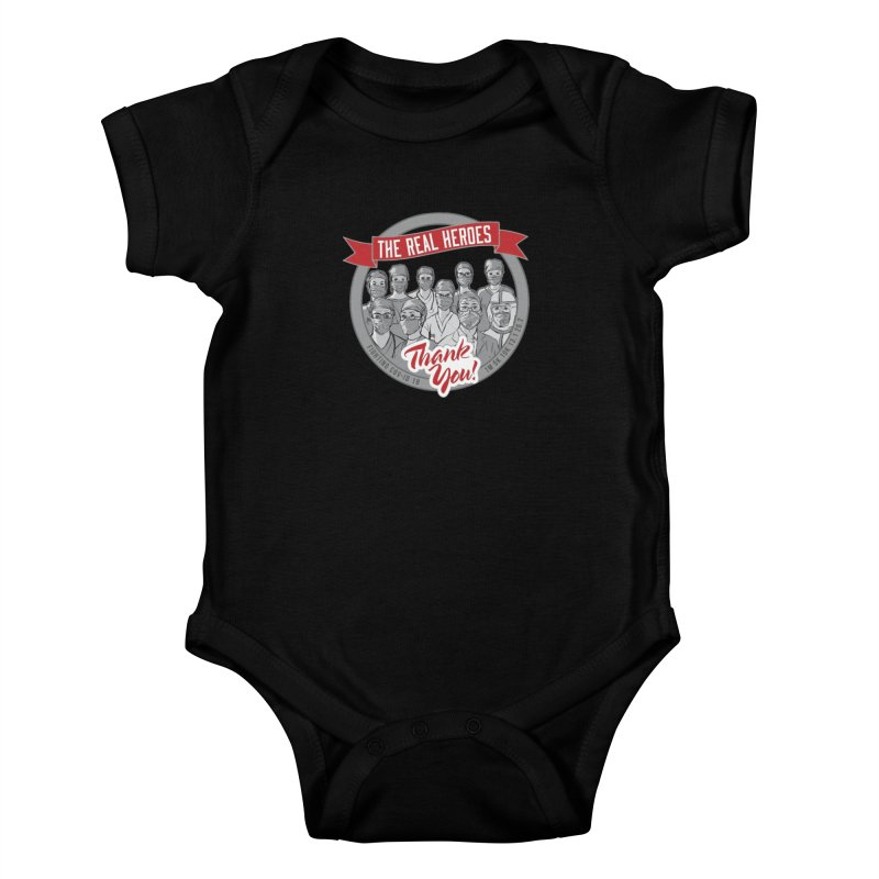 The Real Heroes Kids Baby Bodysuit by Moon Joggers's Artist Shop