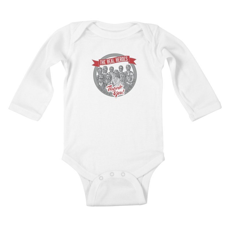 The Real Heroes Kids Baby Longsleeve Bodysuit by Moon Joggers's Artist Shop