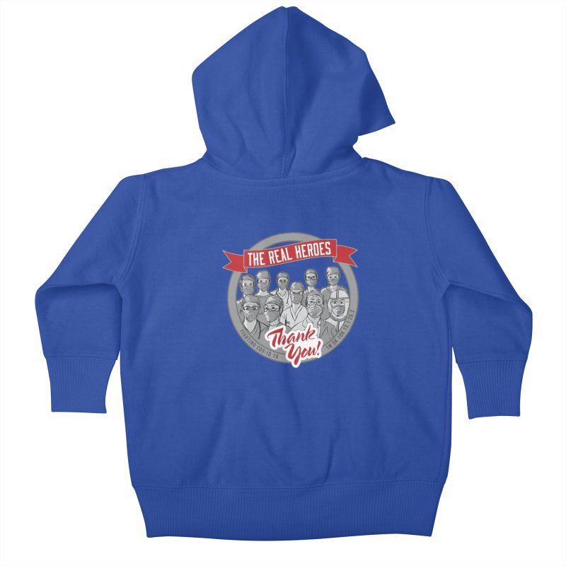 The Real Heroes Kids Baby Zip-Up Hoody by Moon Joggers's Artist Shop
