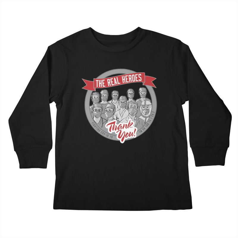 The Real Heroes Kids Longsleeve T-Shirt by Moon Joggers's Artist Shop