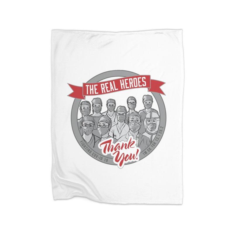 The Real Heroes Home Fleece Blanket Blanket by Moon Joggers's Artist Shop