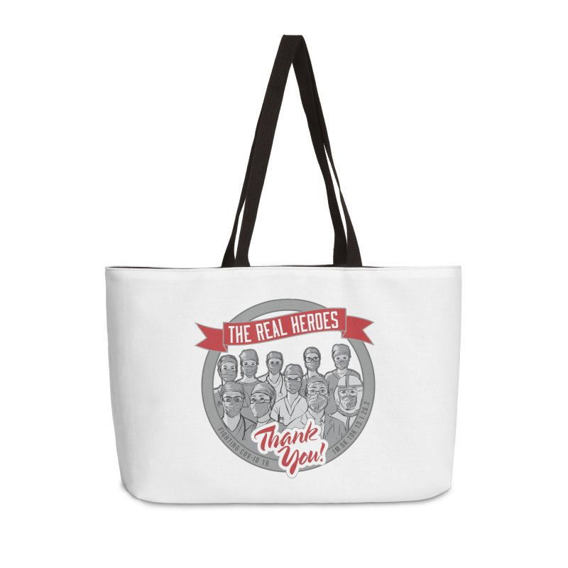 The Real Heroes Accessories Weekender Bag Bag by Moon Joggers's Artist Shop