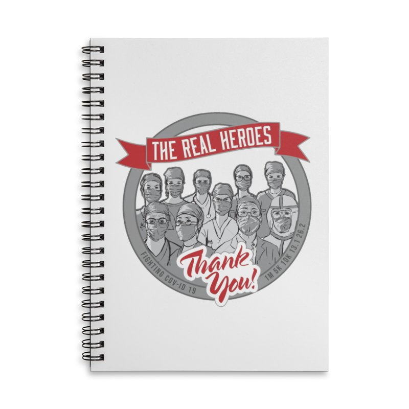 The Real Heroes Accessories Lined Spiral Notebook by Moon Joggers's Artist Shop