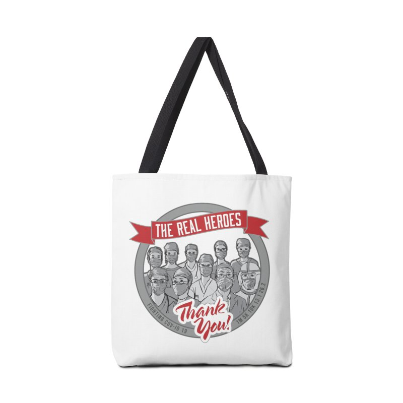 The Real Heroes Accessories Tote Bag Bag by Moon Joggers's Artist Shop