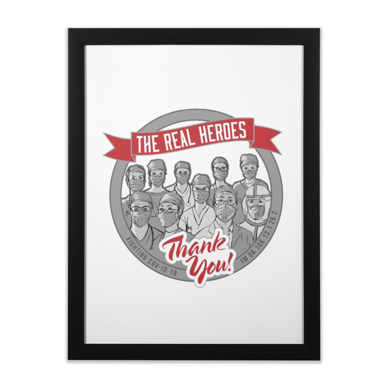 The Real Heroes Home Framed Fine Art Print by Moon Joggers's Artist Shop