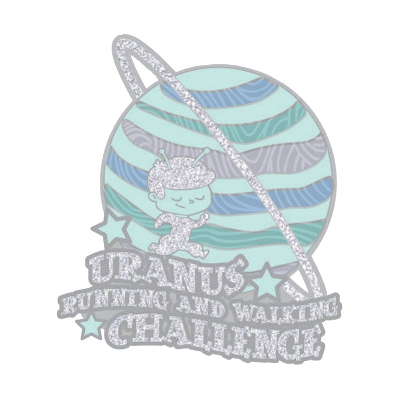 Uranus Running and Walking Challenge Accessories Button by Moon Joggers's Artist Shop