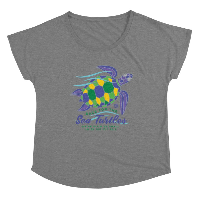 Sea Turtles: We are slow as shell Women's Scoop Neck by Moon Joggers's Artist Shop