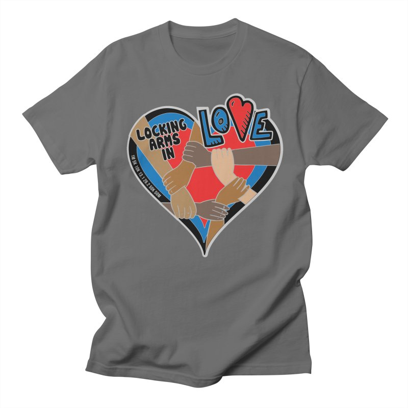 Locking Arms in Love Men's T-Shirt by Moon Joggers's Artist Shop