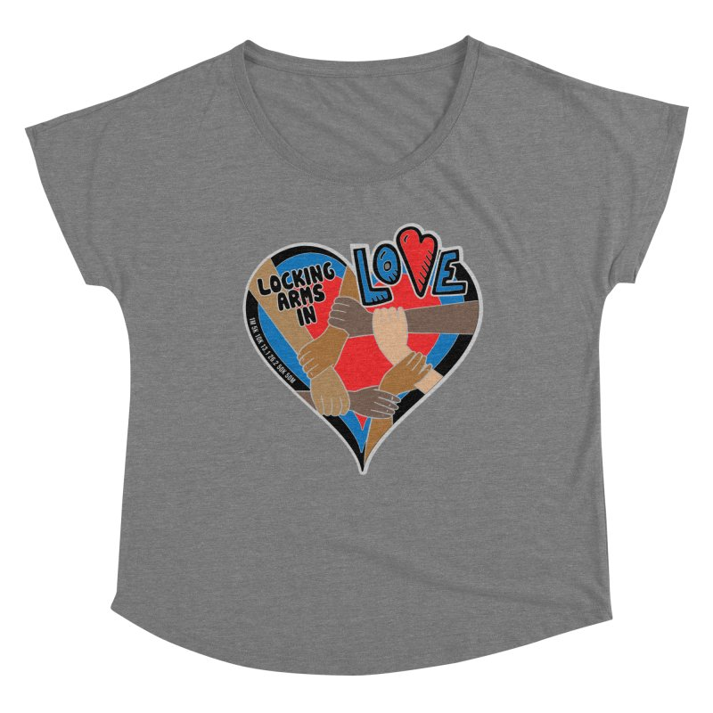 Locking Arms in Love Women's Scoop Neck by Moon Joggers's Artist Shop