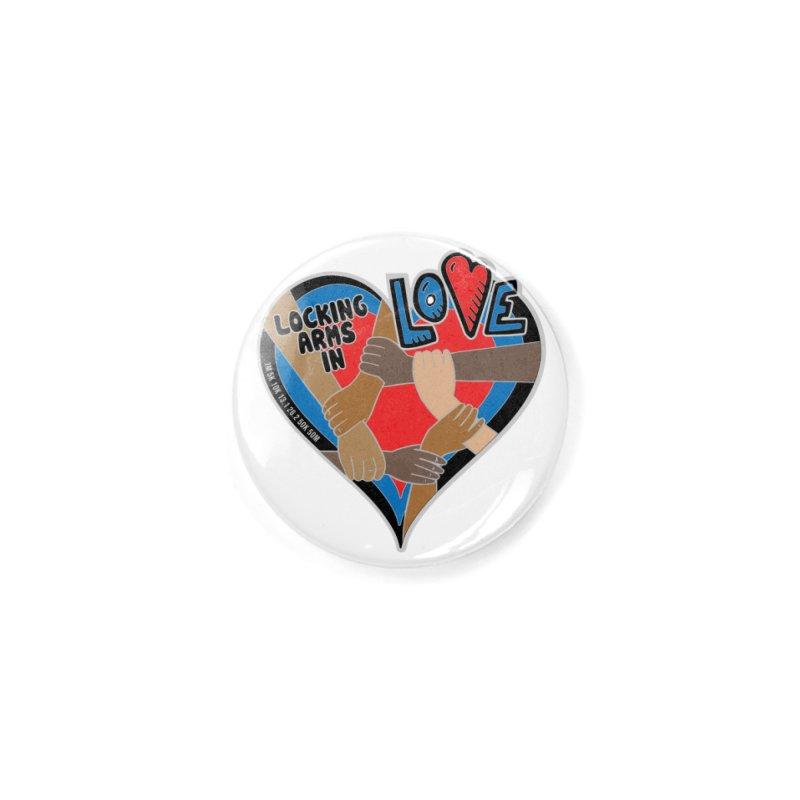 Locking Arms in Love Accessories Button by Moon Joggers's Artist Shop