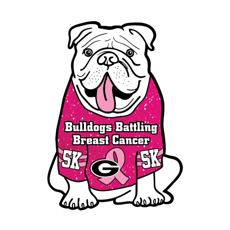 Bulldogs Battling Breast Cancer Accessories Button by Moon Joggers's Artist Shop