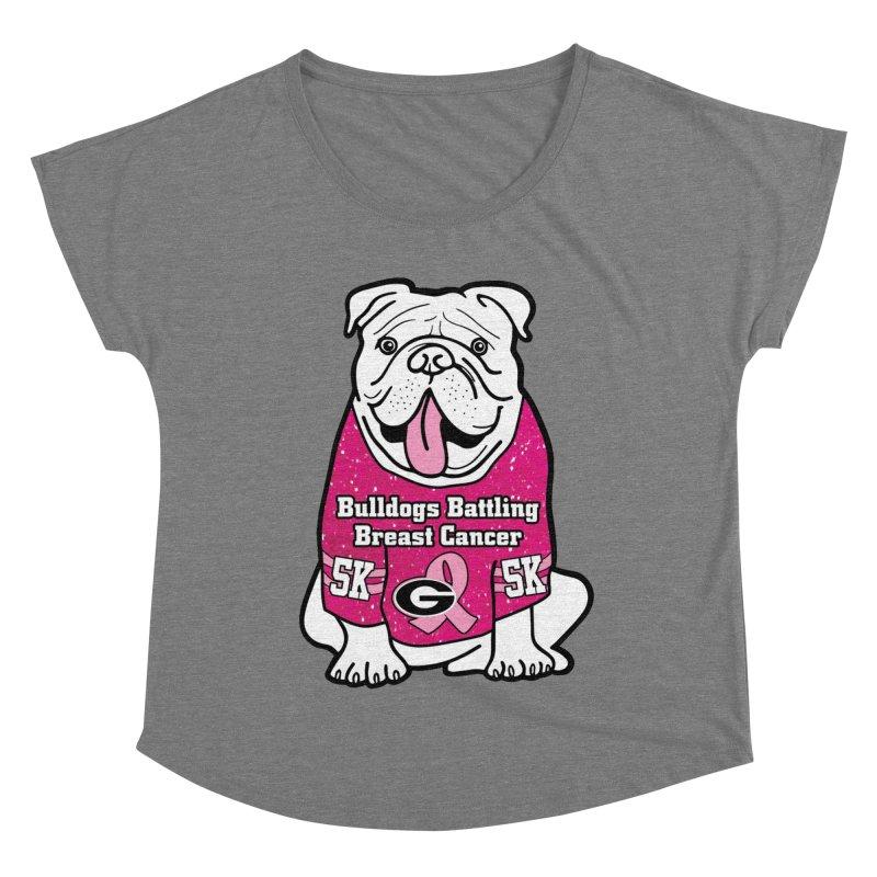 Bulldogs Battling Breast Cancer Women's Scoop Neck by Moon Joggers's Artist Shop