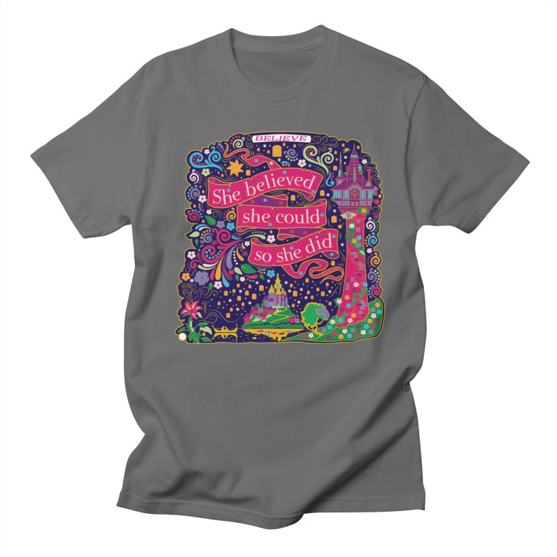 She Believed She Could So She Did Men's T-Shirt by Moon Joggers's Artist Shop