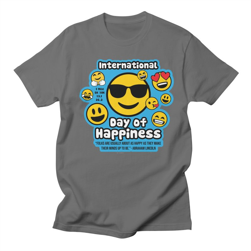 International Day of Happiness Men's T-Shirt by Moon Joggers's Artist Shop