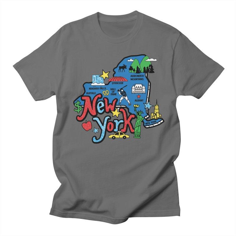 Race Through New York Men's T-Shirt by Moon Joggers's Artist Shop