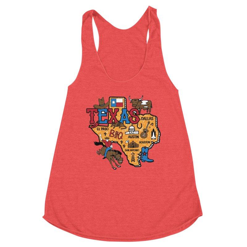 Race Through Texas Women's Tank by Moon Joggers's Artist Shop