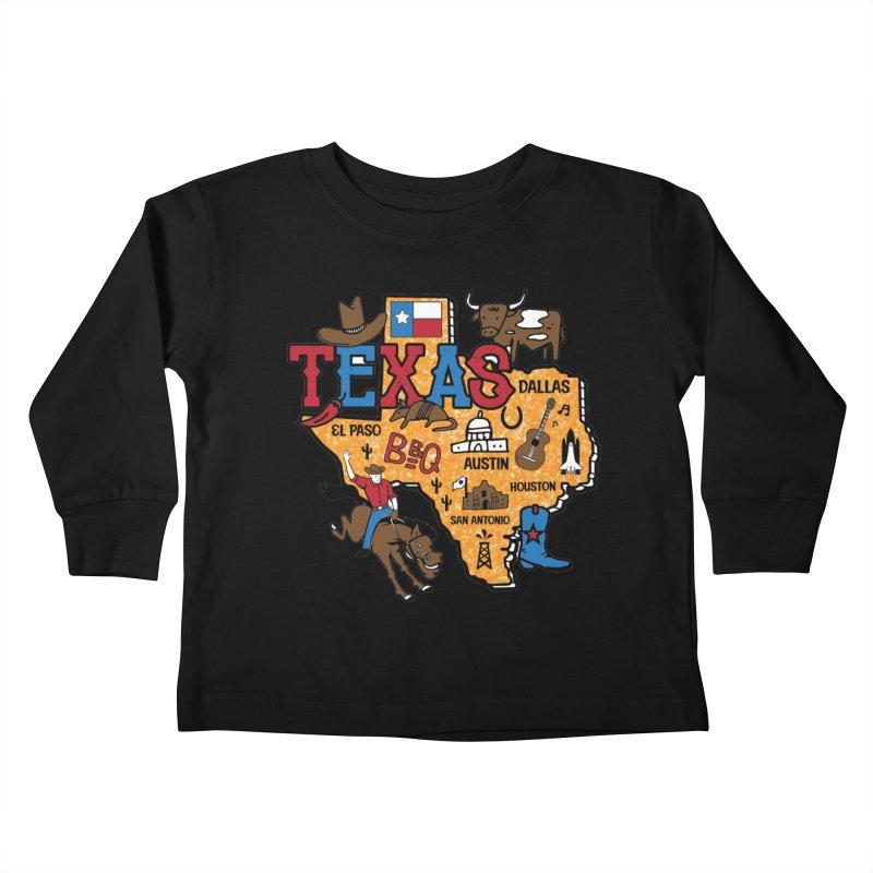Race Through Texas Kids Toddler Longsleeve T-Shirt by Moon Joggers's Artist Shop