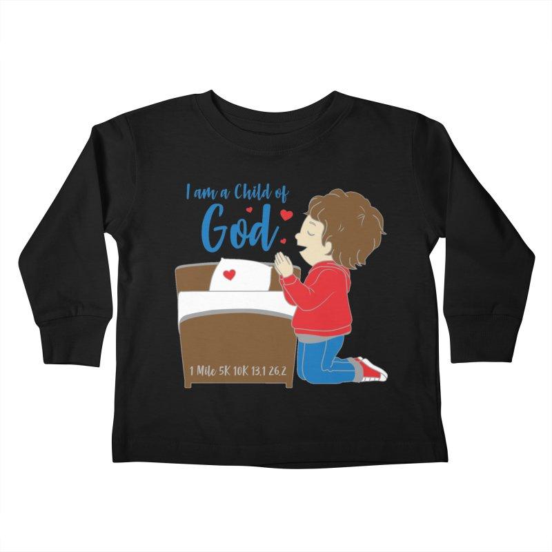 I Am a Child of God Kids Toddler Longsleeve T-Shirt by Moon Joggers's Artist Shop