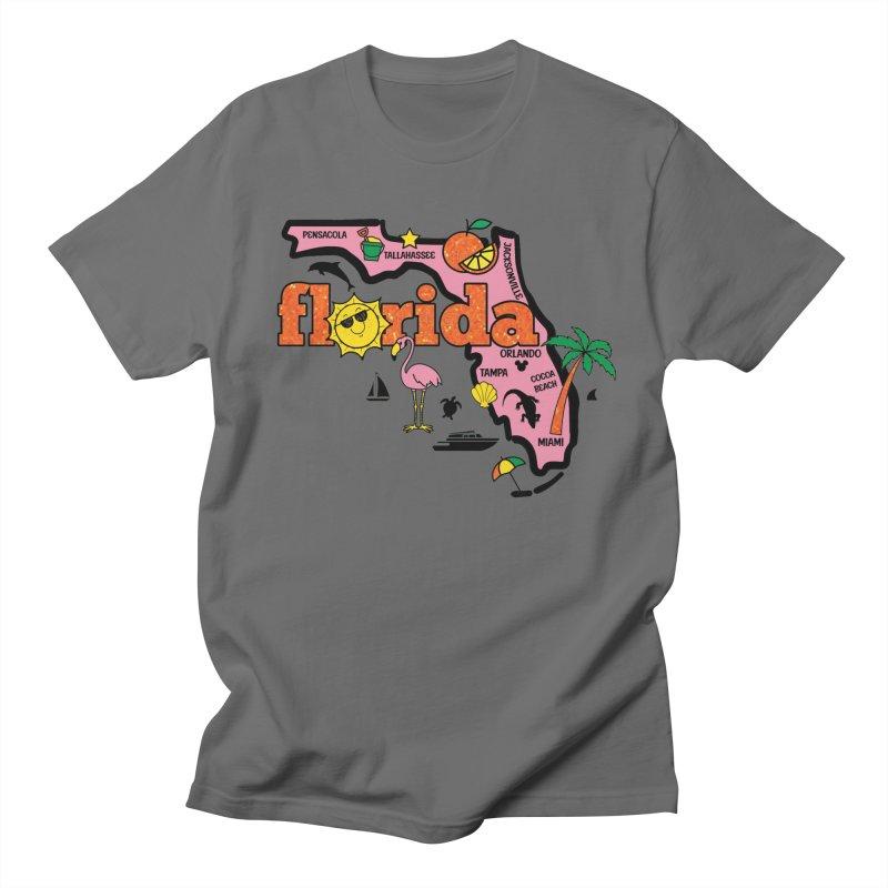 Race Through Florida Men's T-Shirt by Moon Joggers's Artist Shop