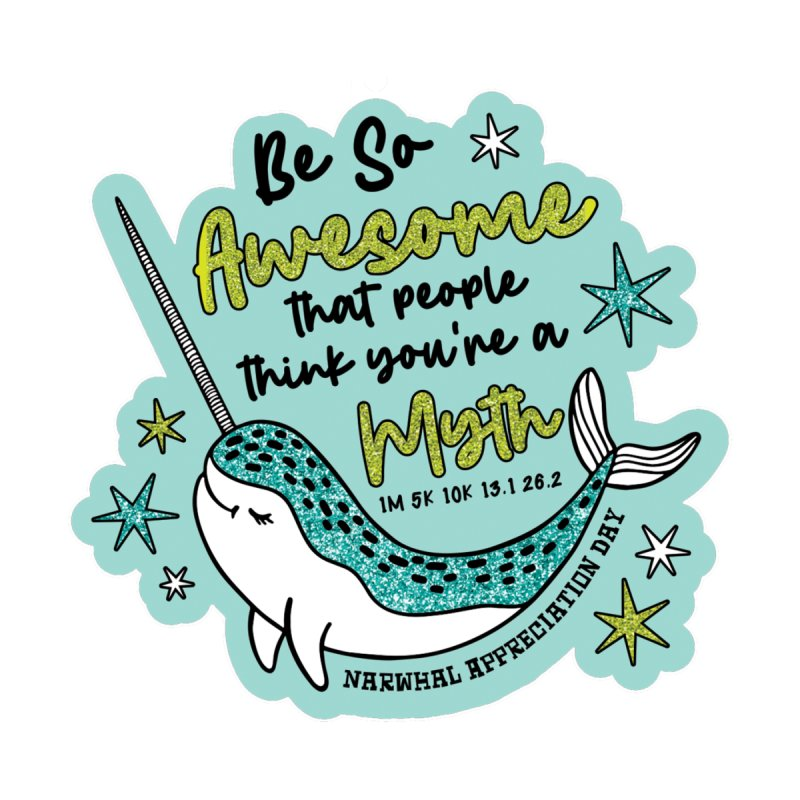 Narwhal Appreciation Day Men's T-Shirt by Moon Joggers's Artist Shop