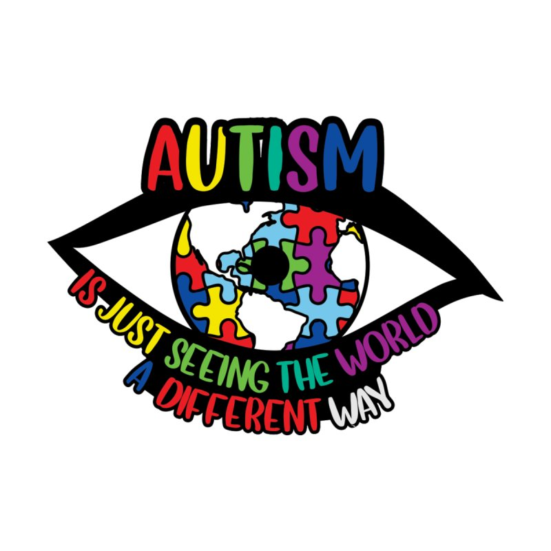 See the World a Different Way - Autism Awareness Accessories Neck Gaiter by Moon Joggers's Artist Shop
