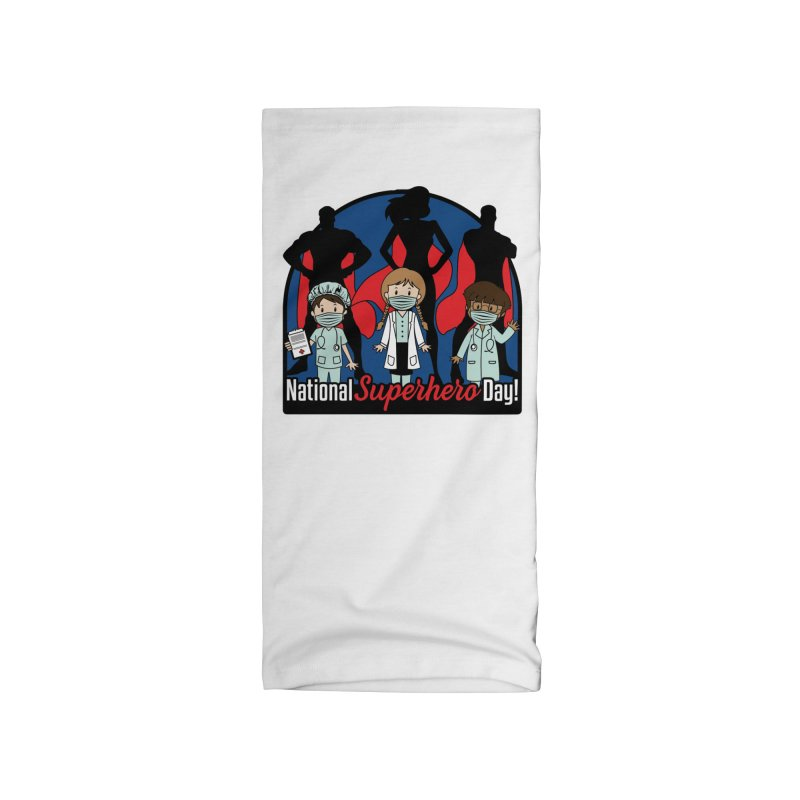 National Superheroes Day 2021 Accessories Neck Gaiter by Moon Joggers's Artist Shop