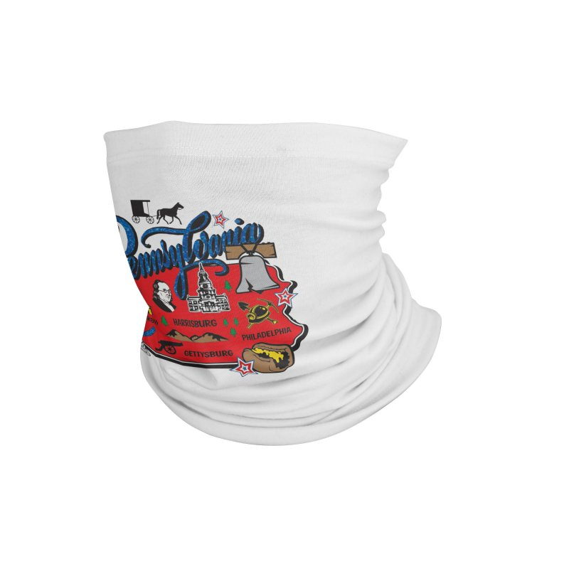 Race Through Pennsylvania Accessories Neck Gaiter by Moon Joggers's Artist Shop