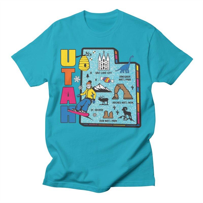 Race Through Utah Men's T-Shirt by Moon Joggers's Artist Shop