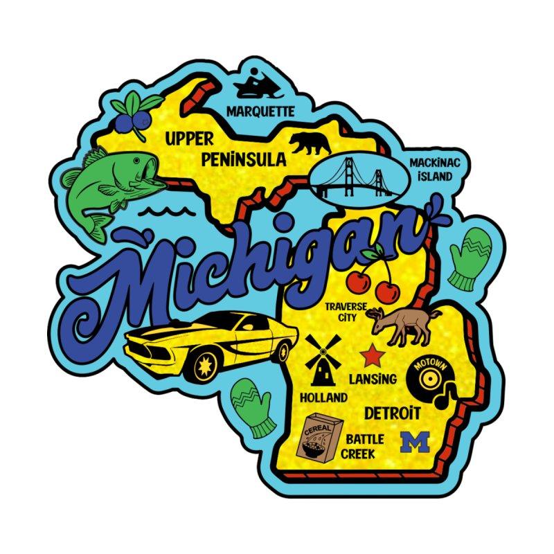 Race Through Michigan Men's T-Shirt by Moon Joggers's Artist Shop
