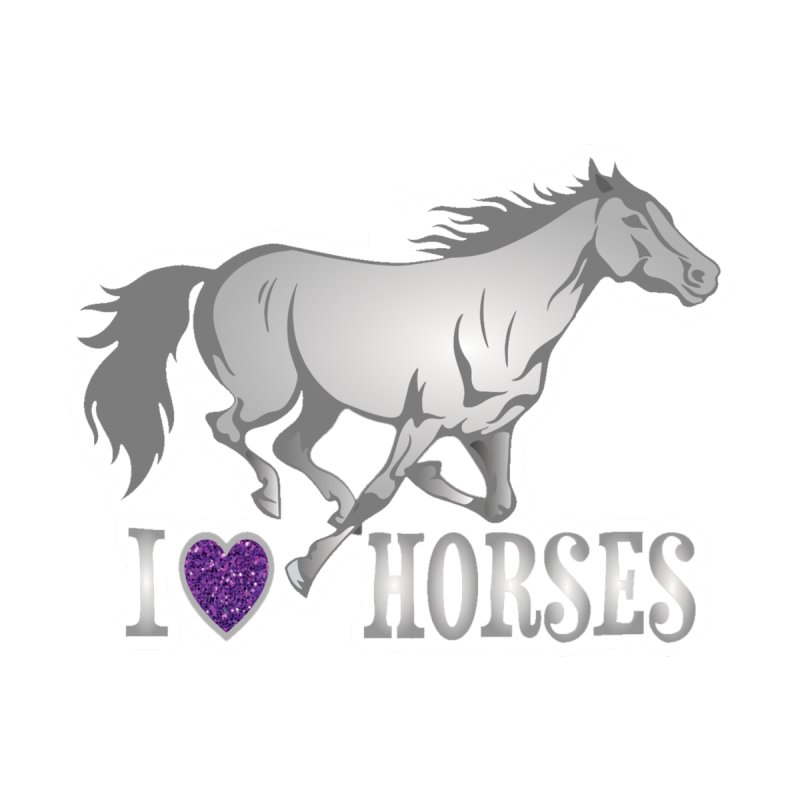 I Love Horses Accessories Face Mask by Moon Joggers's Artist Shop