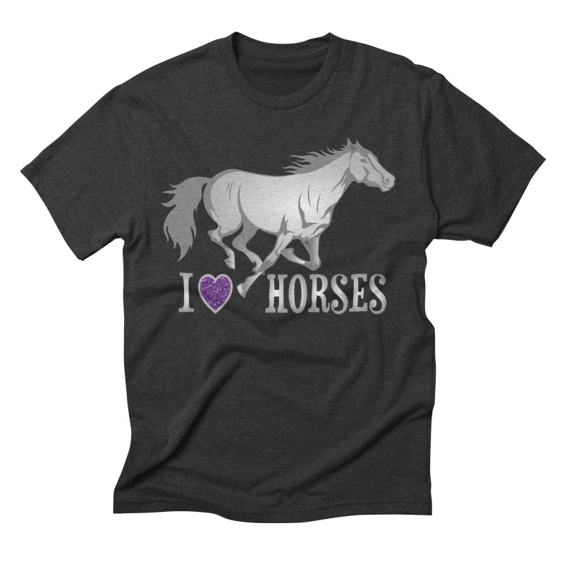 I Love Horses Men's T-Shirt by Moon Joggers's Artist Shop