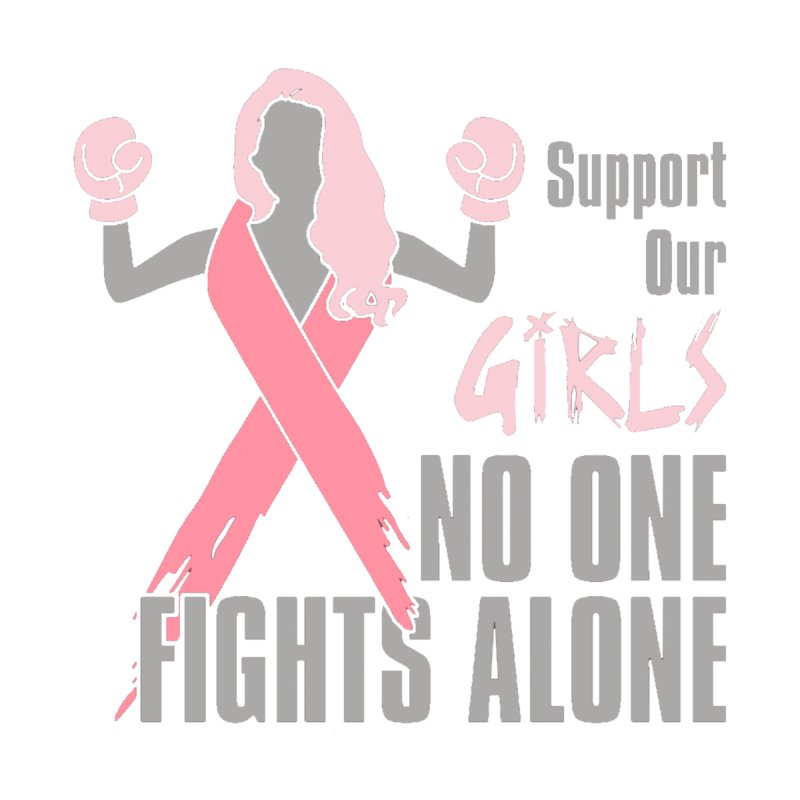Support Our Girls - No One Fights Alone Women's T-Shirt by Moon Joggers's Artist Shop