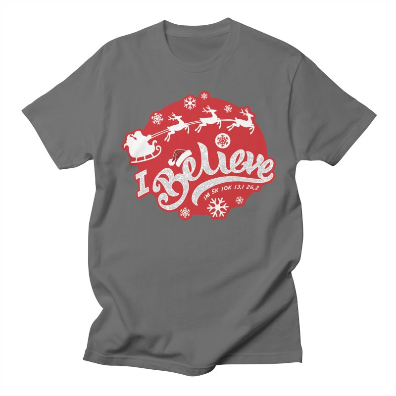 Santa's Big Day - I Believe Men's T-Shirt by Moon Joggers's Artist Shop