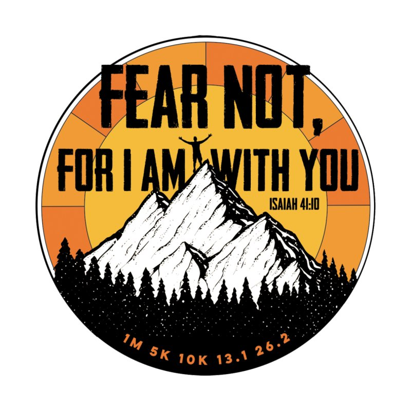 Fear Not For I Am With You Men's T-Shirt by Moon Joggers's Artist Shop
