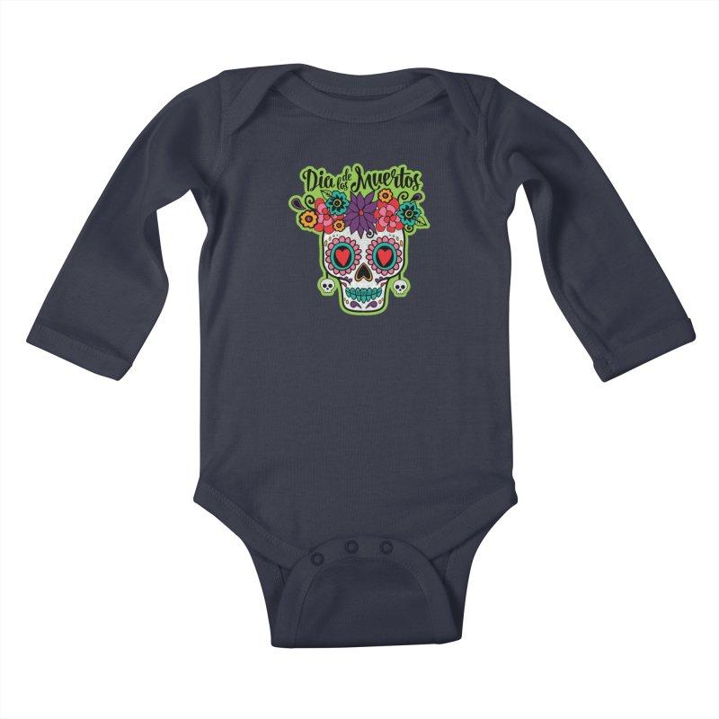 Day of the Dead Kids Baby Longsleeve Bodysuit by Moon Joggers's Artist Shop
