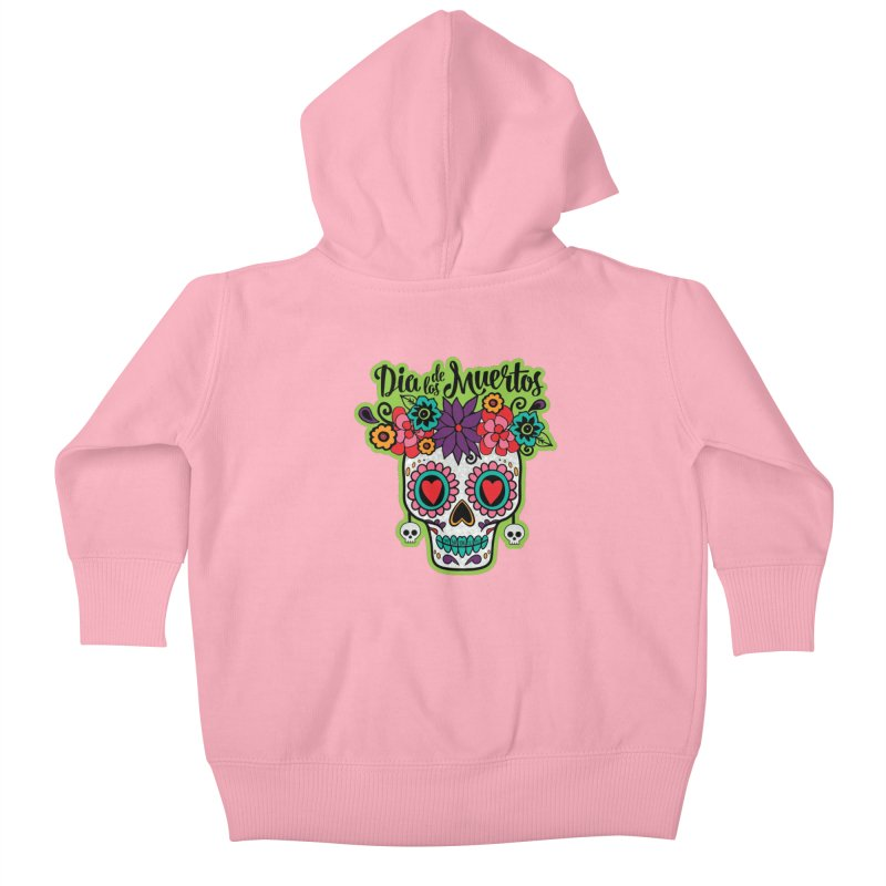 Day of the Dead Kids Baby Zip-Up Hoody by Moon Joggers's Artist Shop