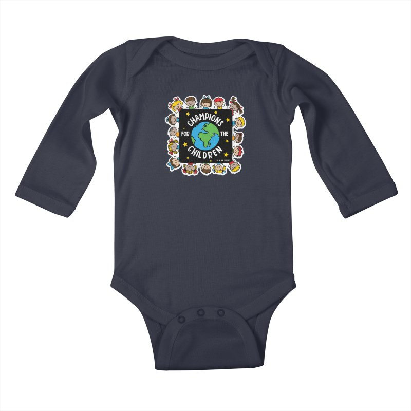 Champions for the Children Kids Baby Longsleeve Bodysuit by Moon Joggers's Artist Shop