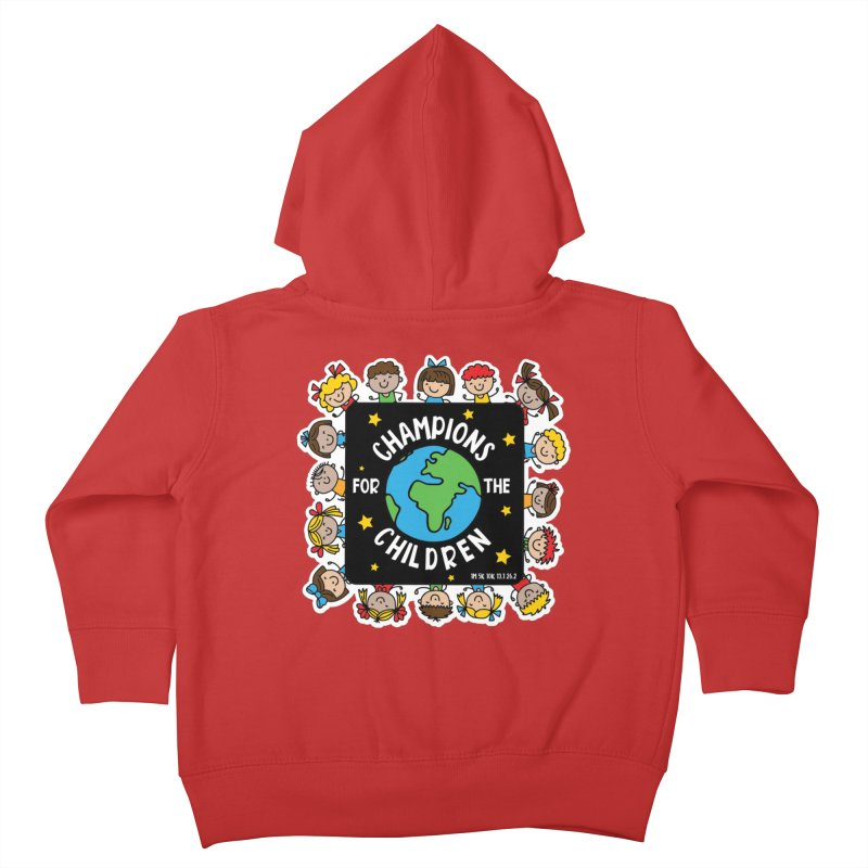 Champions for the Children Kids Toddler Zip-Up Hoody by Moon Joggers's Artist Shop