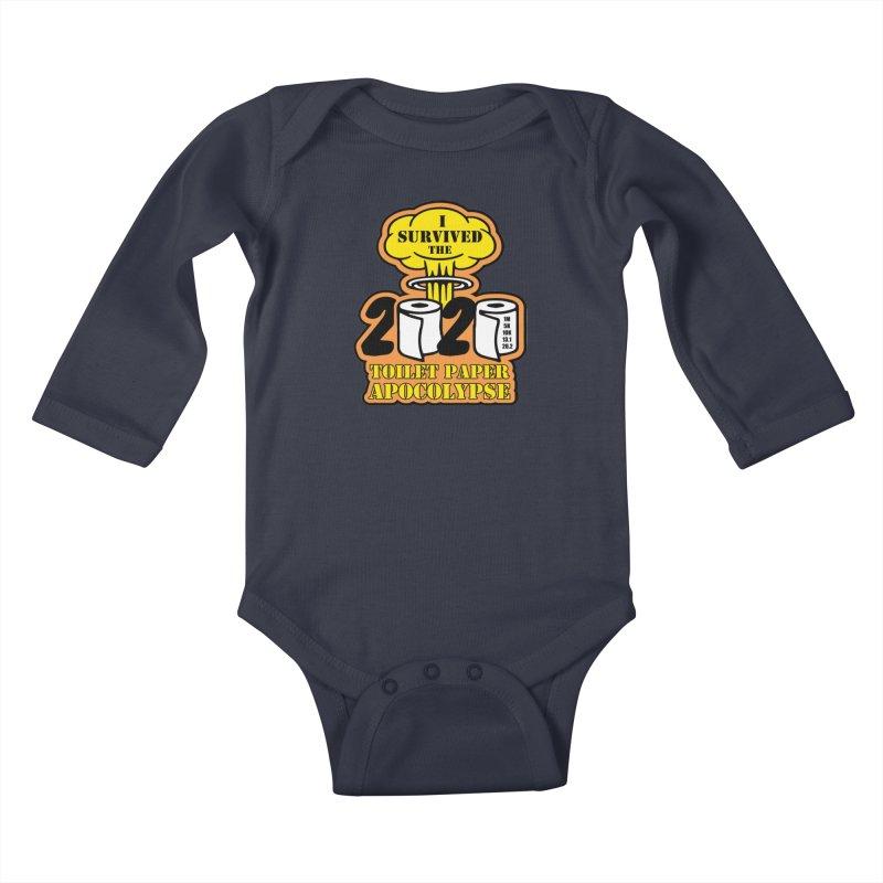 Toilet Paper Day Kids Baby Longsleeve Bodysuit by Moon Joggers's Artist Shop