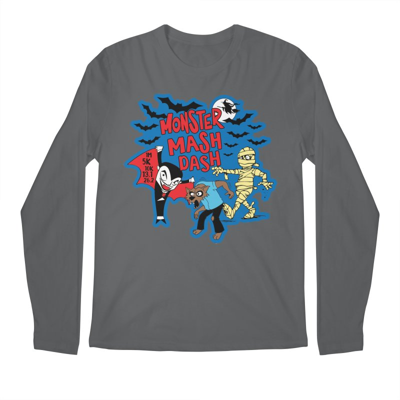 Monster Mash Dash Men's Longsleeve T-Shirt by Moon Joggers's Artist Shop
