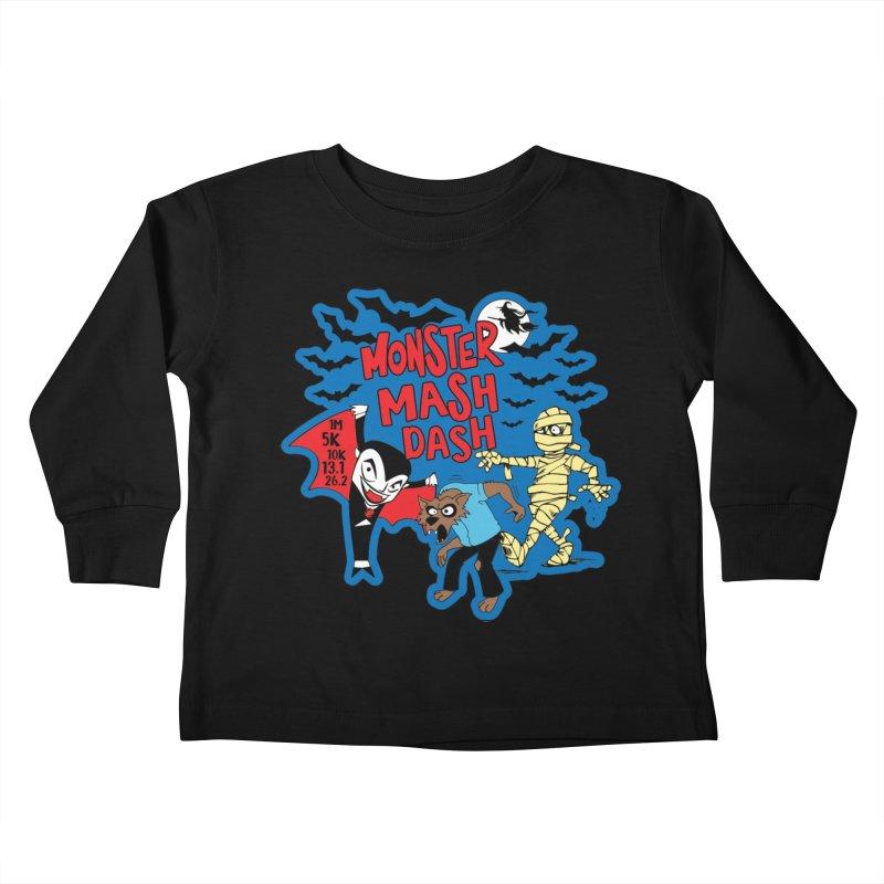 Monster Mash Dash Kids Toddler Longsleeve T-Shirt by Moon Joggers's Artist Shop