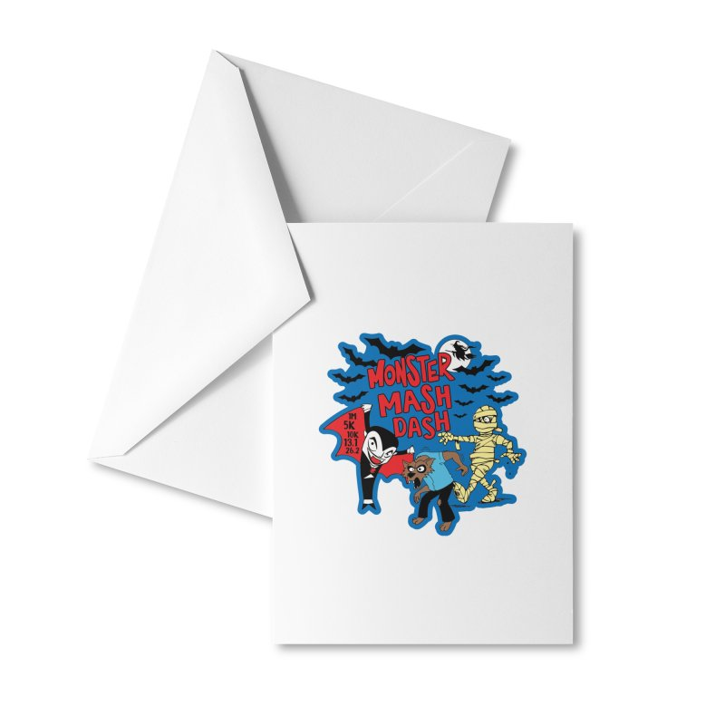 Monster Mash Dash Accessories Greeting Card by Moon Joggers's Artist Shop