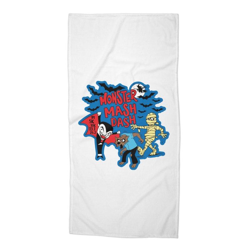 Monster Mash Dash Accessories Beach Towel by Moon Joggers's Artist Shop
